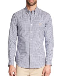 Polo Ralph Lauren | Blue Slim-fit Tattersall Stretch-oxford Sportshirt for Men | Lyst