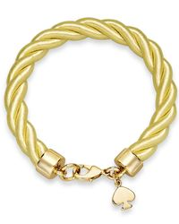 kate spade new york - Metallic Gold-Tone Charm And Citron Learn The Ropes Bracelet - Lyst