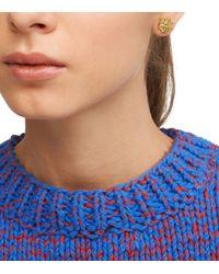 Tory Burch - Metallic Small T-logo Stud Earring - Lyst