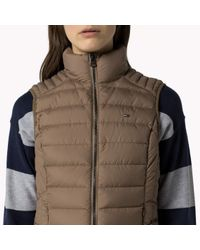 Tommy Hilfiger - Brown Down Quilted Gilet - Lyst