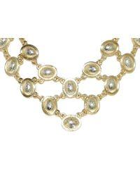 1928 | Metallic Bombay Oval Bib Necklace | Lyst