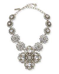 Oscar de la Renta   Metallic Crystal Statement Necklace   Lyst