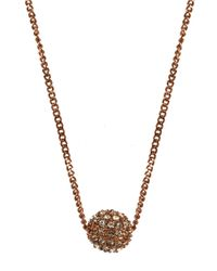 Givenchy | Pink Rose Gold Plated And Crystal Fireball Necklace | Lyst