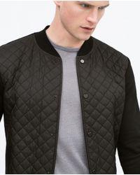 Zara | Black Combined Nylon Jacket for Men | Lyst