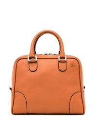 Loewe | Brown 'amazona 75' Leather Satchel | Lyst