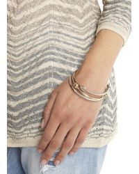 COACH - Metallic Silver And Gold Plated Bangle Set - Lyst