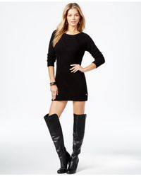 Guess | Black Long-sleeve Tunic Sweater | Lyst