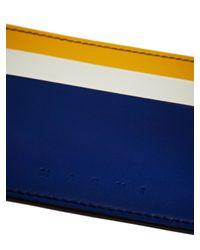 Marni - Blue Leather Card Holder - Lyst