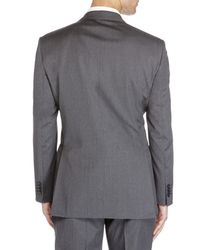Saint Laurent | Gray Two-Button Solid Suit for Men | Lyst