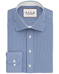 Thomas Pink | Blue Hampson Check Slim Fit Shirt for Men | Lyst