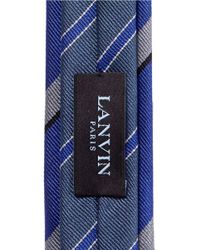 Lanvin - Blue Stripe Skinny Tie for Men - Lyst