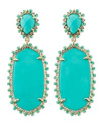 Kendra Scott | Blue Parsons Clip-On Earrings | Lyst