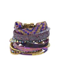 Hipanema | Purple Embellished Cuff | Lyst