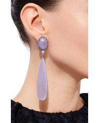 Sidney Garber - Purple Chalcedony Drop Earrings - Lyst