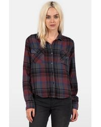 Volcom - Red 'desert Coast' Plaid Shirt - Lyst