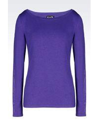 EA7 | Purple Long Sleeved T-shirt | Lyst