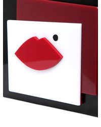 Lulu Guinness - Multicolor Abstract Face Perspex Clutch - Lyst
