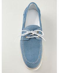 Jimmy Choo - Blue 'Watson' Deck Shoes for Men - Lyst