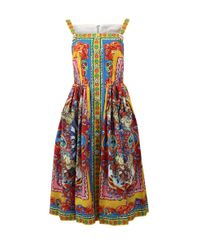 Dolce & Gabbana | Multicolor Printed Caretto Dress | Lyst