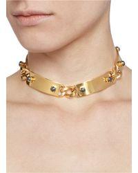 Ela Stone | Metallic 'heidi' Metal Plate Collar Necklace | Lyst