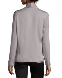 ESCADA - Metallic Long-Sleeve Woven Top With Scarf - Lyst