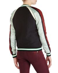 Scotch & Soda - Multicolor Black Embroidered Bird Varsity Jacket - Lyst