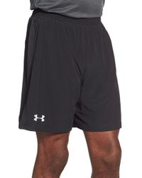 Under Armour | Black 'launch 2-in-1' Heatgear Running Shorts for Men | Lyst