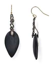 Alexis Bittar - Black Lucite & Crystal Lace Drop Earrings - Lyst