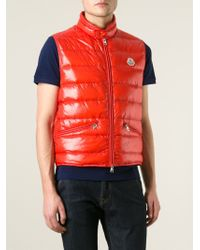 186c653b5bb2 Lyst - Moncler  Tib  Padded Gilet in Red for Men