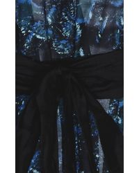 Proenza Schouler - Blue Belted Peacock Sundress - Lyst