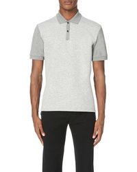 Lanvin | Gray Jersey-front Polo Shirt for Men | Lyst
