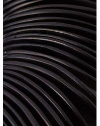 Monies - Black 'wave' Effect Necklace - Lyst