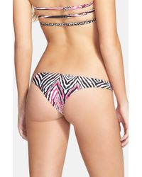 Volcom | Purple 'wild Marks' Cheeky Bikini Bottoms | Lyst