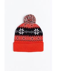 Urban Outfitters | Red Budweiser Beanie for Men | Lyst