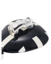 Monies   Black Checked Pendant Earrings   Lyst