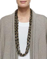 Eskandar | Brown Multi-Strand Long Necklace | Lyst