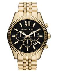 Michael Kors | Metallic Michael Kors 'large Lexington' Chronograph Bracelet Watch | Lyst