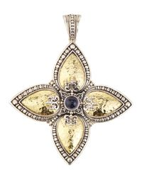 Konstantino | Metallic Iolite Cabochon Cross Enhancer | Lyst