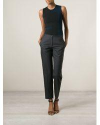 Maison Margiela - Gray Dark Grey Stretch Wool Trousers - Lyst