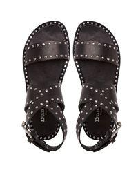 Dune Black | Black Lexxie Studded Leather Gladiator Sandals | Lyst