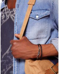 Vans - Black Plaited Leather Wing Bracelet Exclusive To Asos for Men - Lyst