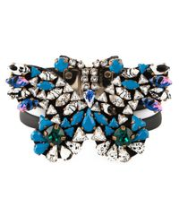 Shourouk | Black Embellished Butterfly Bracelet | Lyst