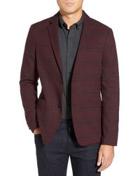 W.r.k. | Red 'landrick' Check Print Blazer for Men | Lyst