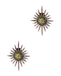 Bochic | Black Fancy Starburst Diamond Earrings | Lyst