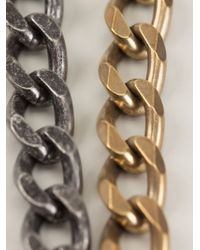 Lanvin - Metallic Long 'taliska' Necklace - Lyst