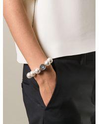 Lanvin | Brown Pearl Bracelet | Lyst