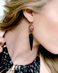 Ashley Pittman - Black Ndani Dark Horn Spike Earrings - Lyst
