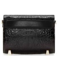 Alexander Wang | Black Croc_embossed Mini Chastity Shoulder Bag | Lyst