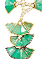 Nak Armstrong - Emerald And Green Tourmaline Earrings - Lyst