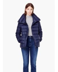 Mango - Blue Water-repellent Feather Coat - Lyst
